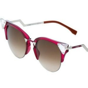 FENDI IRIDIA CAT EYE CRYSTAL CHERRY SUNGLASSES